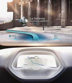 Volkswagen ID Concept 2016 Paris MotorShow Autonomous Driving Cluster & HUD Design