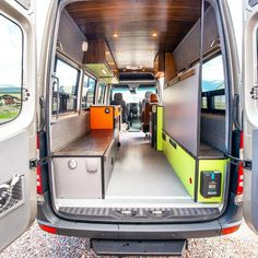Our favorite custom DIY Ford Transit camper conversions. Get layout and design ideas from van lifers and professional outfitters. Ford Transit Camper Conversion, Ford Transit Campervan, Camper Van Conversion Diy, Van Interior, Camper Interior, Interior Design, Adventure Campers, Adventure Travel, Airstream Renovation