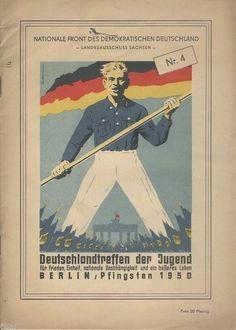 Deutschlandtreffen der Jugend Berlin 1950 - Nationale Front Sachsen Heft 4