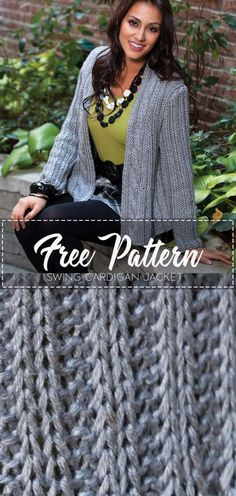 This pretty jacket with a subtle flared edge, makes a lovely statement and is a flattering finish to any outfit. Go to the free pattern Here Crochet Coat, Crochet Jacket, Crochet Cardigan, Crochet Clothes, Crochet Sweaters, Caron Yarn, Beautiful Crochet, Clothing Patterns, Free Crochet