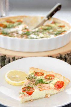 Tarta z łososiem i mozarellą