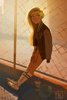 Art by julia blattman character design teen, character inspiration, blonde hair girl, character Girl Drawing Sketches, Cute Girl Drawing, Cartoon Girl Drawing, Cartoon Drawings, Cute Drawings, Drawing Tips, Hipster Drawings, Drawing Hair, Drawing Drawing