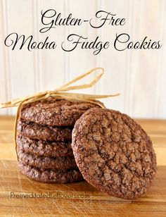 A Recipe for Gluten-free Mocha Fudge Cookies with Dairy-Free Options (try with egg subs)
