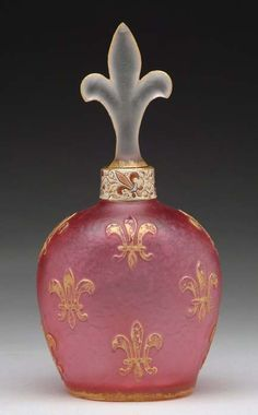 Price guide for DAUM FLEUR DE LIS BOTTLE. Beautiful rose 4c0d47801