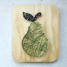 Green Pear String Art by SBDesignShop on Etsy