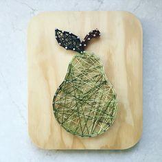 Green Pear String Art by SBDesignShop on Etsy