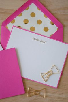 Kate Spade Tickled Pink Correspondence Cards - Two Friends