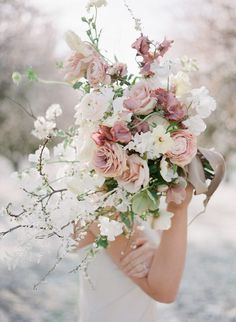 Romantic Bouquet Blossom Shoot Blooming Fortitude Quit Hiding Your Magic. The World Is Ready For You. - Danielle Doby Photography Jeremychouphotography Makeup and Hair Aimeeartistry Spring Wedding Flowers, Bridal Flowers, Flower Bouquet Wedding, Rose Wedding, Floral Wedding, Garden Wedding, Rustic Wedding, Bride Bouquets, Bridesmaid Bouquet