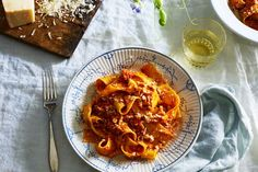 Chicken Parmesan Pappardelle recipe on Food52 Pasta Recipes, Chicken Recipes, Dinner Recipes, Cooking Recipes, Dinner Ideas, Healthy Recipes, Yummy Recipes, Pappardelle Recipe, Pappardelle Pasta