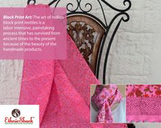 Name of Product:Pink Linen Hand Block Printed Stole.  To shop, please visit http://www.ethnicshack.com/apparels/stoles-wraps/pink-linen-hand-block-printed-stole-2