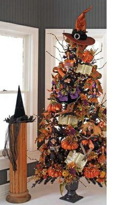Black & Bling  Trendy Tree. never seen or heard of a Halloween one before... by Selkie~gal