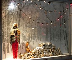 Autumn window display