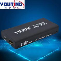 YOUTINGHDAV YT-HD14V1.4 4K UHD HDMI Splitter 1x4 full 2160p30hz hdmi Distribution Amplifier 4 port
