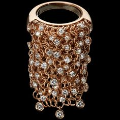 Mattia Cielo - Maglia - Long ring 750/1000 pink gold - white diamonds ct. 2,00