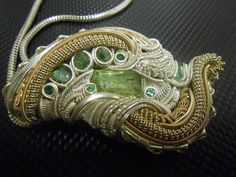 The Green Bastard Heady Intricate Wire Wrap by NoeticEffect