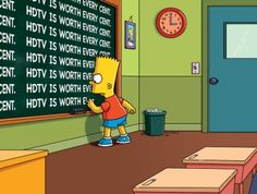Bart Simpson - HDTV is Worth Every Cent