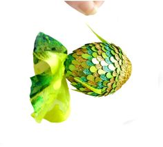 Hanging Decorations Lucky Lime Fish Ornament  by AnnushkaHomeDecor