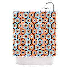 KESS InHouse Busy Polyester Shower Curtain