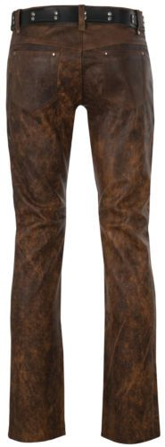 mens-leather-jeans-501-style-brown-leather-pants-trousers-Lederjeans-antic-Cuir