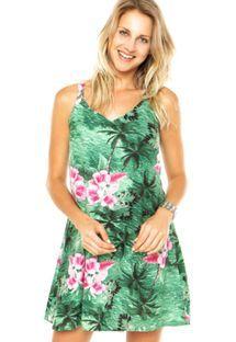 Vestido MOB Angra Hibisco Verde