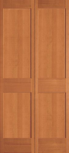 Bi-fold version of Simpson Interior Shaker # 744 Use this for the bedroom closet doors. With super heavy duty hardware.