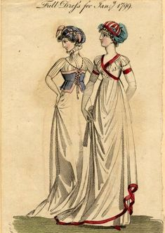 Round gown fashion plate, Winter, 1799.