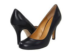 Nine West Ambitious High Heels - Navy Leather Black Work Shoes, Wrap Heels, Nine West, Character Shoes, Summer Outfits, High Heels, Dance Shoes, Slip On, Footwear