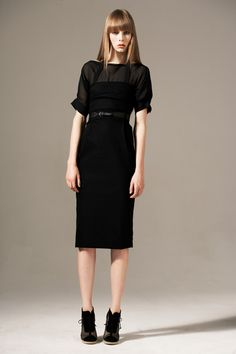 This Preen by Thornton Bregazzi dress? GREAT. Love the length, the sheer top and sleeves, and the silhouette. Of course, I'm sure it's prohibitively expensive. But maybe I can find/make something similar.