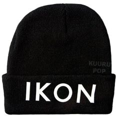 iKON Beanie  A must-have for all iKON fans, this beanie is perfect for keeping comfy and warm in style. The hats may look ordinary, but they have a secret - the 'iKON' logo is printed in special glow in the dark ink.  - One size only. - Beanies should fit everyone age 10 and up (including adults), but are not recommended for larger heads. - High-quality print.