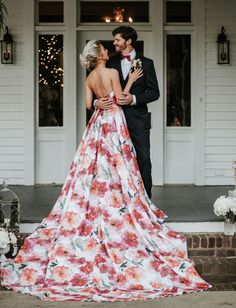 And the Bride Went Bold: A Floral Wedding Dress for the Vibrant Bride-to-Be