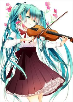 anime hatsune miku. I just had to pin it due to my love of music. Its my passion............ Other than loving Sebastian fom Black Butler