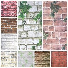 New 3D Wallpaper Bedroom Mural Roll Modern Stone Brick Wall Background Textured