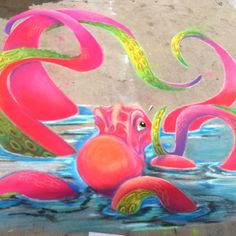 Sidewalk chalk art!