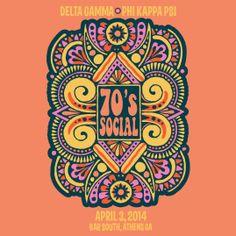 Delta Gamma   DG   Phi Kappa Psi   70s Social   Mixers   Greek Life   shirtsforgreeks.com
