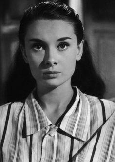 Audrey Hepburn in Roman Holiday (1953).