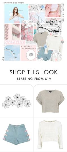 """""""Hold that thought.. 你好 Jolin!!"""" by delicatekissestoloki ❤ liked on Polyvore featuring Seed Design, WALL, Topshop, Ash, Katie and Monday"""