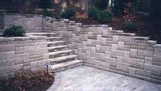 Image result for pinterest retaining block wall design