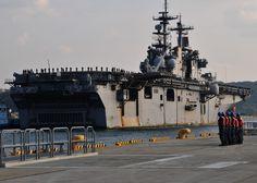 USS Essex in Sasebo Naval Base, Japan