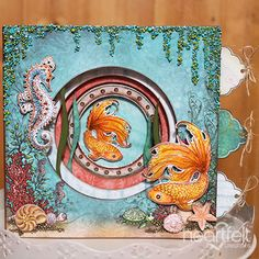 Heartfelt Creations - Layers Under the Sea Project Water Patterns, Bead Patterns, Chameleon Color, Heartfelt Creations Cards, Nautical Cards, Wink Of Stella, Scrapbooking, Penny Black, Pattern Paper