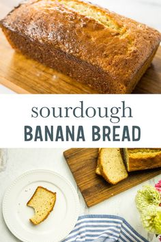 Banana Bread with Sourdough Discard Your discarded sourdough can be used for so many things! You'l love this sweet and delicious banana bread for a thrifty breakfast recipe. Quick and easy recipe that also be frozen for later. Sourdough Banana Bread Recipe, Sourdough Starter Discard Recipe, Sourdough Recipes, Banana Bread Recipes, Frozen Banana Recipes, Best Nutrition Food, Nutrition Pdf, Proper Nutrition, Saveur