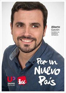Cartel Alberto Garzón, Unidad Popular-IU, elecciones generales diciembre 2015