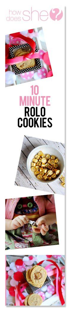 10 minute Rolo Cookies howdoesshe.com