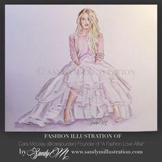 Fashion Illustration by fashion illustrator SANDY M #sandym #illustration #fashionillustration {www.sandymillustration.com new SANDY M website, SHOP and blog}