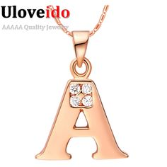 Find More Pendant Necklaces Information about Letter Collares for Women Rose Gold Plated Christmas Statement Necklace A B C D E F G H I J K L M N O P Q R S T U V W X Y Z N958,High Quality necklace notebook,China necklace birthstone Suppliers, Cheap necklace jesus from ULove Fashion Jewelry Store on Aliexpress.com
