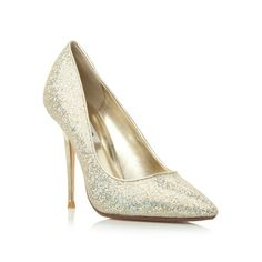 Metallic lurex high heel court shoe. Maybe a bit high but I love these!