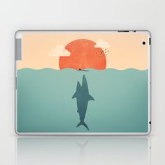 Shark Attack  Laptop & iPad Skin by Filiskun - $25.00