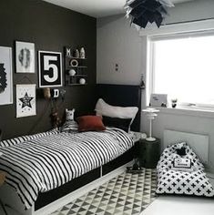 Apply one of 10 stylish decoration for small bedroom design ideas. You will have a fabulous look in your small bedroom. Modern Bedroom Decor, Boys Bedroom Decor, Girls Bedroom, Bedroom Furniture, Contemporary Bedroom, Teenage Boy Bedrooms, Boys Bedroom Wallpaper, Teenage Room Decor, Mirror Bedroom