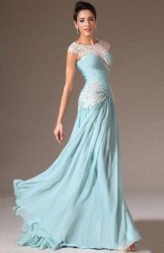 ihomecoming.com SUPPLIES Chic Scoop Lace Appliques Evening/Prom Dress Elegant