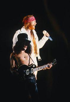Axl Rose & Slash, Guns N' Roses perfoming live at Feyenoord Stadion, Rotterdam, Holland, June 23th 1992