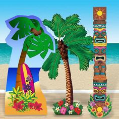 Select a huge cardboard cut out to decorate your Summer, Hawaiian, Tropical themed party this summer from Partyrama. Hawaiian Party Supplies, Party Themes, Party Ideas, Summer Parties, Tropical, Fancy, Smoke, Entertaining, Holiday